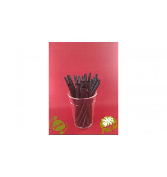Öko szívószál fekete  kukoricakeményítő 8x150mm 250db/cs 12cs/#