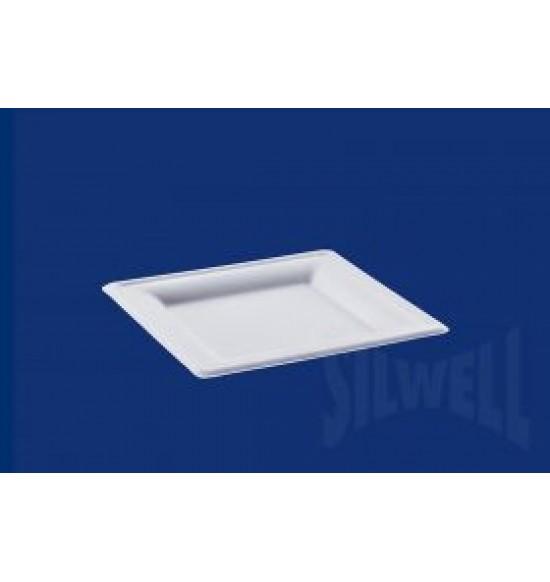 China szögletes papírtányér 200 mm fehér