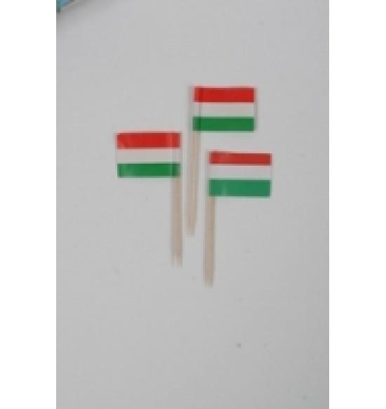 Koktél disz Magyar zászló pálcika