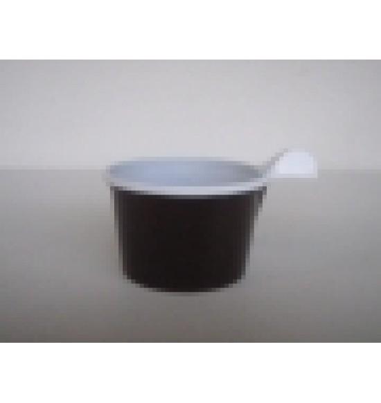 Műanyag Barna füles kávéspohár 150 ml 1000db/#