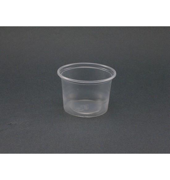 Műanyag szószos 1dl alj+tető 100db/cs 2000db/#