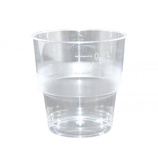 Műanyag WH pohár 2 dl HUKTA 1000/50
