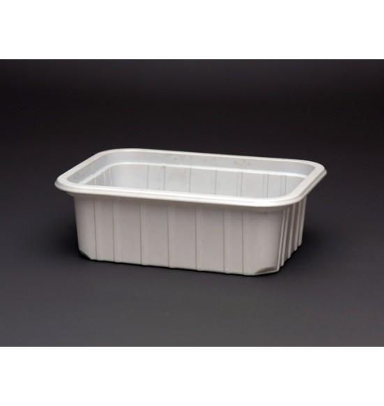 Műanyag szögletes 270 ml alj fehér 800/#50db/cs